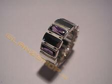 MEXX edel Damenring 925 Silber Ring violette Steine Besatz Gr. 18 / 180 / 56 NEU