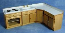 4 Piece Pine Kitchen Set 12th Scale Dolls House DF107P