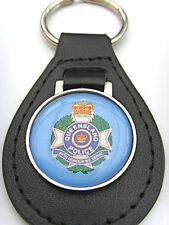 QUEENSLAND Police Leather Keyfob Key Fob Keyring Gift