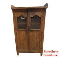 Antique Primitive  architectural salvage Hutch  China Cabinet Cupboard m M