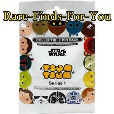 Disney Park Tsum Tsum Star Wars Series 1 Mystery 5-Pin Bag Pack Set (NEW/SEALED)