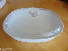 Corning F-6-B HC-6-B French White Casserole Dish and DC-1.5-C Lid