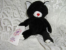 """MORY"" BLK & WT CAT CUDDLY CREATURE BY ALEX NWT"