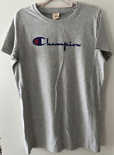 Women's Champion Grey Sweat T Shirt Size L