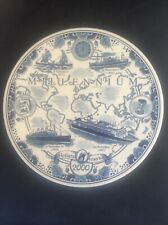 RARE Royal Goedwaagen Blue Delft Holland America Shipping Line MILLENIUM Plate