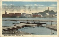 Old Town ME Indian Island Ferry c1920 Postcard