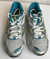 Mizuno Women 8W Wave Inspires Turquoise Blue/ white Running Athletic Shoes