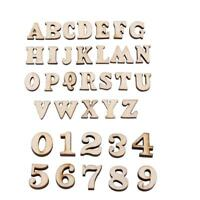 Holz Mischbuchstaben / Zahlen Puzzle Holz Umweltschutz Handwerk Heiß O7W2