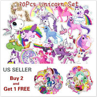 30 Unicorn Style Graffiti Stickers for Car Laptop Skateboard Luggage Vinyl Decal