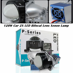 9V-36V 120W Car Modified 2X LED Bifocal Lens 3.0 Xenon Lamp High Power 20000LM