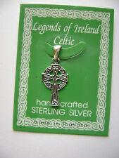 Sterling Silver Small Celtic Irish Gothic Pendant New