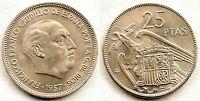 Spain-Estado Español - 25 Pesetas 1957*64 Madrid. SC/UNC. Niquel. 8,5 g. Escasa