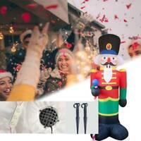 Nussknacker 240cm Aufblasbar LED Beleuchtet Soldat Weihnachten Deko Innen/Außen
