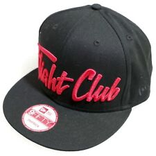 New Era 9 Fifty Flight Club Snapback Black Hat Red Lettering New