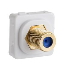 2x Deta Female-Female Connector Grid Plate Insert Gold Plated Connections