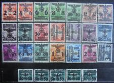 GENERAL GOVERNMENT 1940 Stamps Of Poland Surcharged. Complete Set of 26 Used