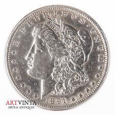 1891 Morgan One Dollar Silver Silber Münze USA Amerika Coin Liberty