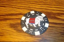 USMC MARINES Bulldog emblem Poker Chip,Golf Ball Marker,Card Guard Black/White