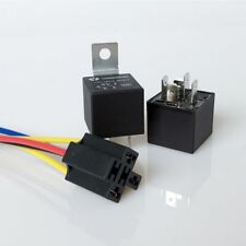 40A 12V 5 Pin SPST Car Auto Relay With 4 Wires Harness Socket For Car Alarm HQ