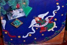 "Bucilla ""CELESTIAL ANGELS' Nativity Felt Christmas Tree Skirt Kit~Sterilized 43"""