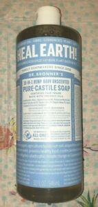 Dr. Bronner's 18-1 Hemp Baby Unscented Pure-Castile Liquid Soap, 32 ounce