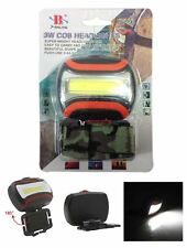 New Powerful COB LED 3W Head Torch Headlamp Camping Hiking Bike Helmet Light
