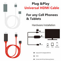 Plug & Play 1080p Universal HDMI HDTV AV Adapter Cable For Cell Phone & Tablets