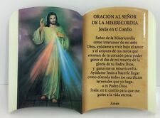 Oracion Al Senor De La Misericordia Jesus ( Para Mesa o Pared)6x4 Pulgadas New