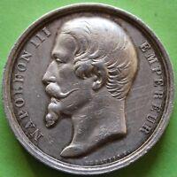 Gettone Napoleone III Pelikan Esame Degli Libri Classici Argento
