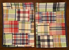 New Listing2 Pottery Barn Kids Madras Patchwork Plaid Lined Curtains Blackout Panels 44x84