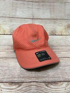 Nike  Featherlight Dri FIT Adjustable Orange  Running Tennis Hat DC3598 814