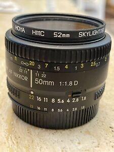 Nikon Nikkor AF 50 mm F/ 1,8 D Obiettivo