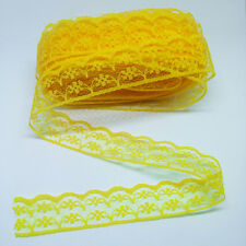 Wholesale Beautiful embroidered lace ribbon unilateral lace 10/50/100yards