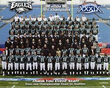 2004 PHILADELPHIA EAGLES NFL NFC CHAMPIONS TEAM 8X10 PHOTO PICTURE