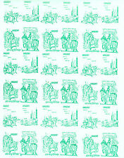 1971 STRIKE MAIL KING ARTHUR GREEN COMMEMORATIVES IN FULL SHEET OF 36 MNH