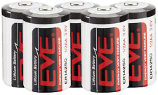 5 X EVE LITHIUM 3.6V 1/2 AA BATTERY ER14250 LS14250 IMAC BATTERY HALF AA ½