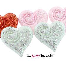 FUNKY GLITTER SWIRL LOVE HEART STUD EARRINGS KITSCH GIFT GIRLS QUIRKY NOVELTY