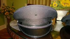 AMERICAN (NY) PEACE OFFICER CEREMONIAL VISOR HAT BLACK PEAKED CAP W/NO INSIGNIA