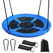 Saucer Tree Swing 40 Inch Round Outdoor Nest Spinner Swing 500lbs Weight Capacit