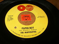 THE MARVELETTES - PAPER BOY - YOU'RE THE ONE - LISTEN - SOUL POPCORN