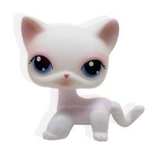 New #64 Rare Littlest Pet Shop Pink White Short Hair Cat Kitty Blue Eyes LPS