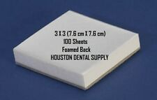 """Dental Poly Mixing Pads WHITE 100 Sheets 3X3"""" Foamed Back Cement Composite Glue"""