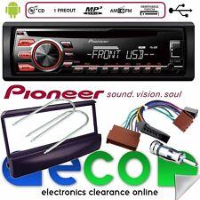 Ford Fiesta Kit de montaje con Pioneer Cd Mp3 Usb Aux estéreo del coche reproductor de radio