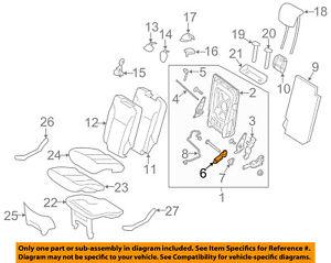 MERCEDES OEM 08-16 GL550 Third Row Seat-Motor 1648202342