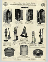 1932 PAPER AD Volupte Perfume Atomizer Art Deco Gold Encrusted Parfums Deltah