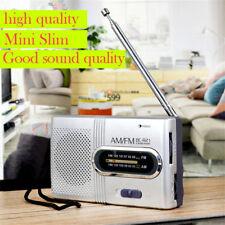 Mini Portátil Bolsillo AM/FM Antena telescópica FUNCIONA CON BATERÍA RADIO