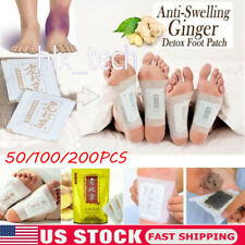 10-200Pc Detox Foot Pads Ginger Extract  Anti-Swelling Weight Loss Improve Sleep