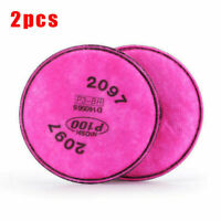 2PCS Replacement 2097 Filters Face Cover for 6200 6500 7500 Facepiece Respirator