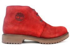 Mens Timberland 1973 Newman A25UZ Red Leather Lace Up Chukka Boots