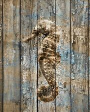Rustic Brown Blue Seahouse Coastal Theme Bathroom Bedroom Wall Art Picture